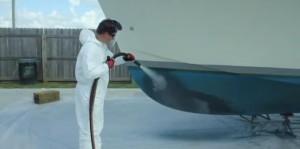 Hydrogommage coque carène de bateau