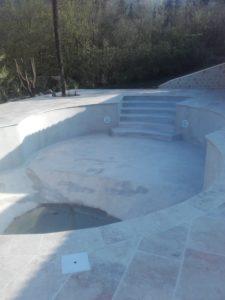 Sablage piscine peinture étanchéité